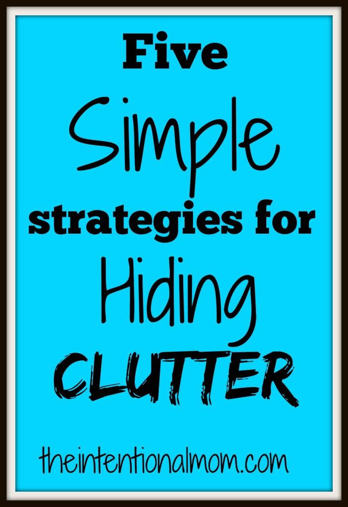hiding clutter