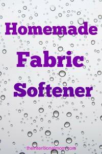 Recipe: Homemade Fabric Softener