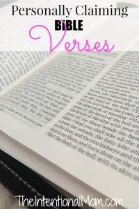Personally Claiming Bible Verses