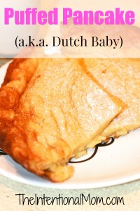 Recipe:  Puffed Pancake