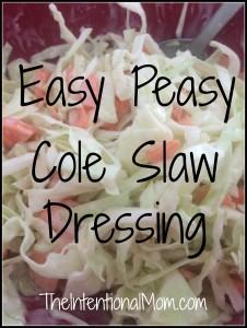 Easy Peasy Cole Slaw Dressing