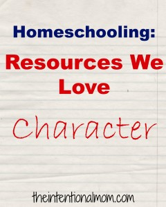 Resources We Love – Character