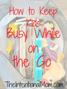 how to keep kids busy on the go