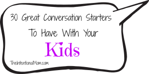 30 great conversation starters