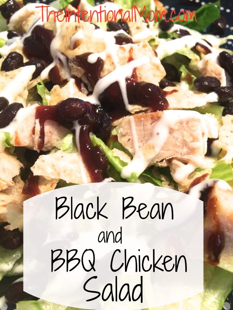 black bean and BBQ chicken salad