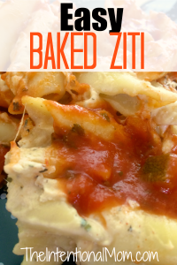 Recipe: Easy Baked Ziti