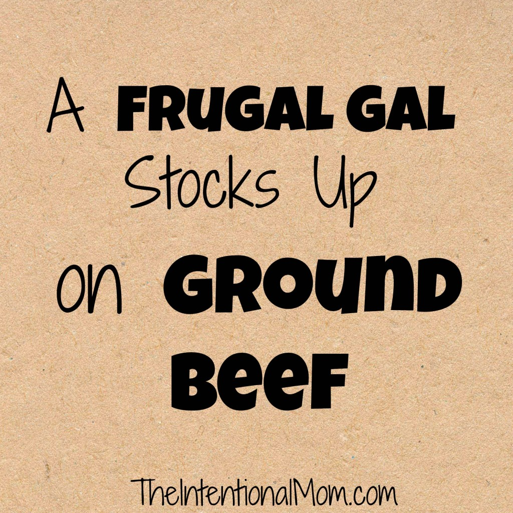 frugal gal stocks up on ground beef