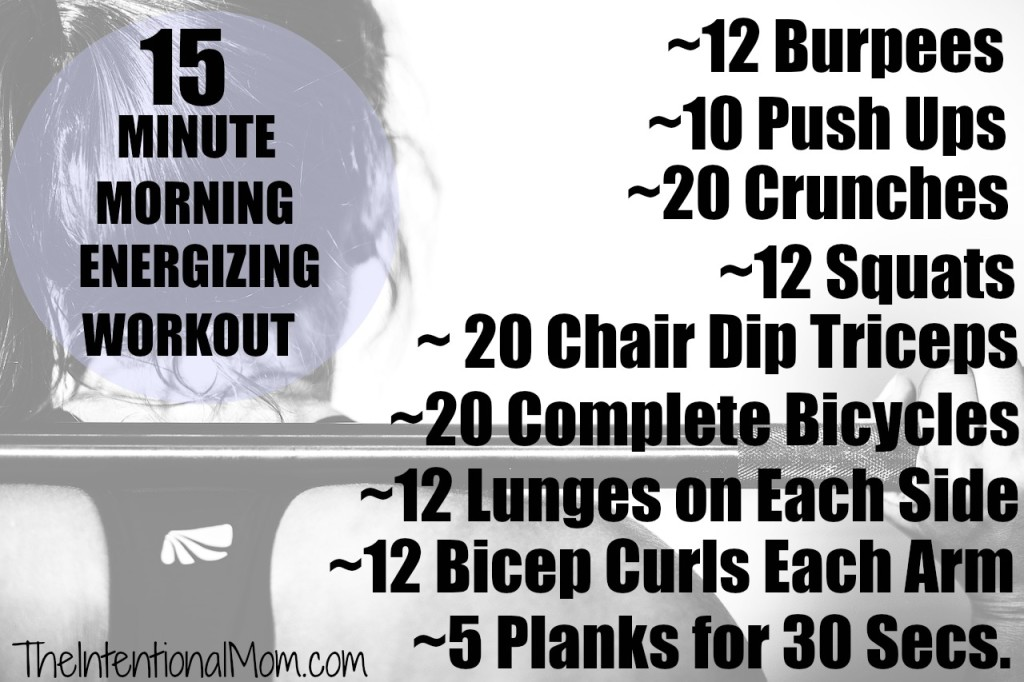 15 minute morning energizing workout