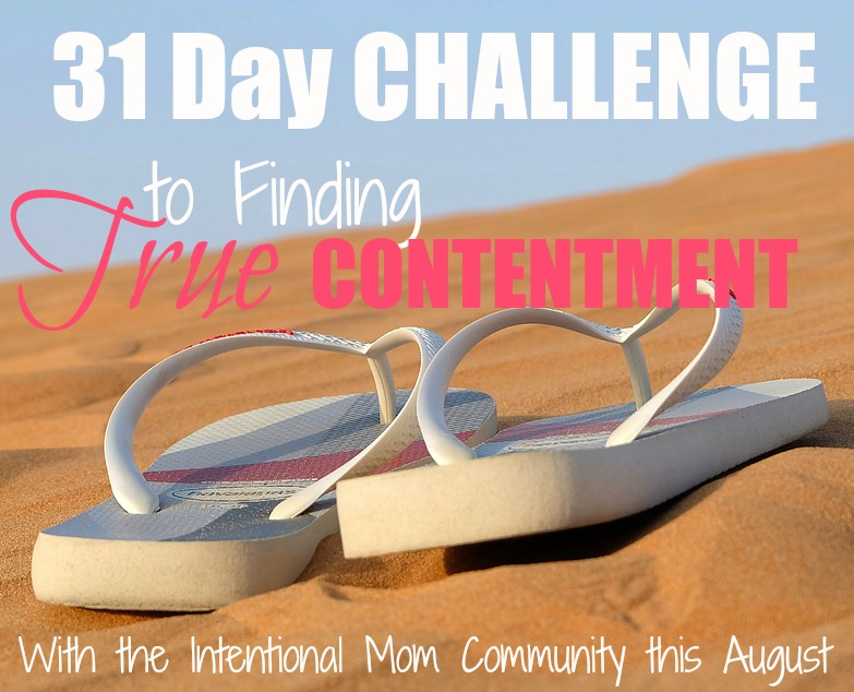 31 day challenge to finding true contentment