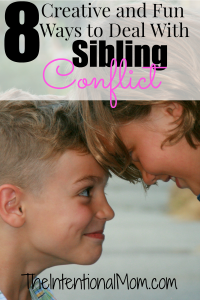 8 Creative and Fun Ways to Deal With Sibling Conflict