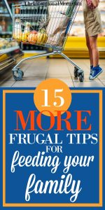 15 More Frugal Tips for Feeding Your Family