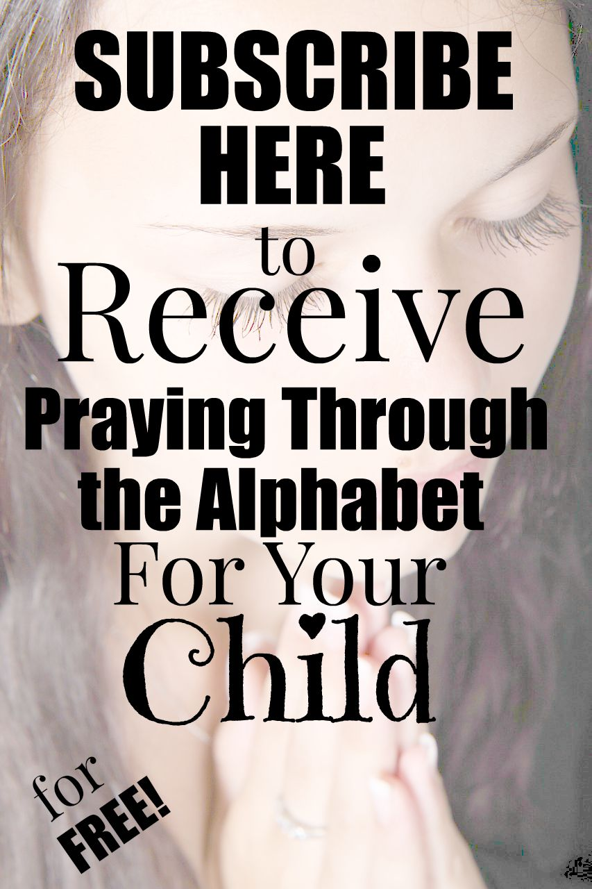praying through the alphabet