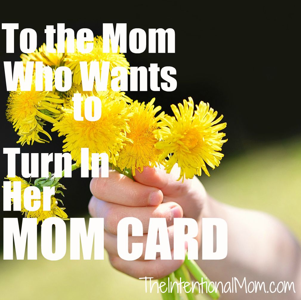 to the mom