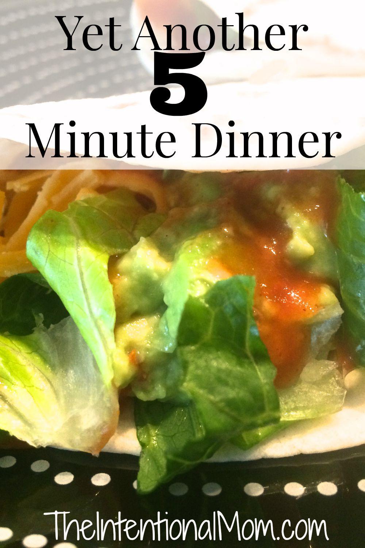 5 minute dinner
