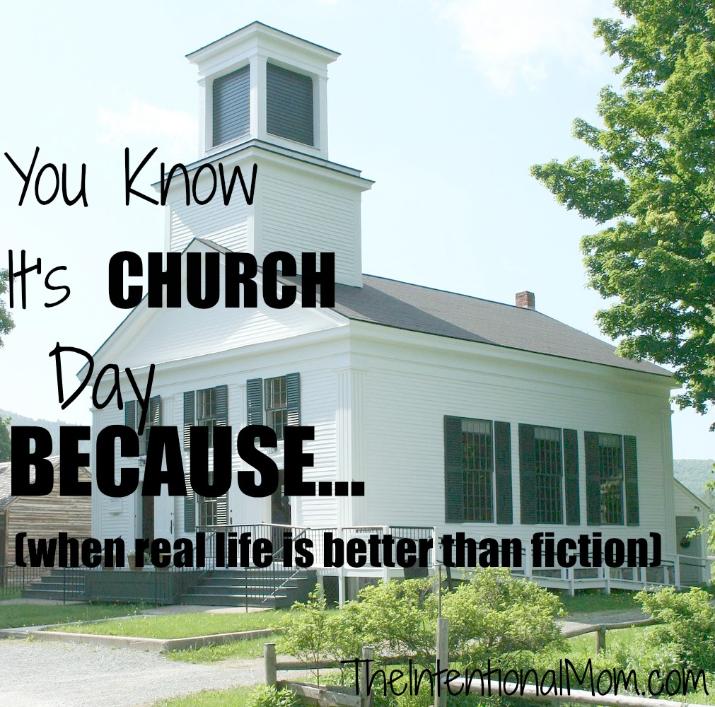 you knoe it's church day because