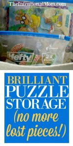 Brilliant Puzzle Storage (no more lost pieces!)