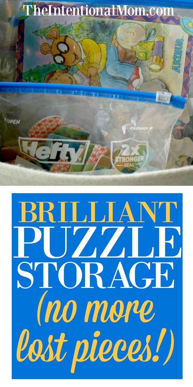 puzzle storage ideas