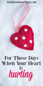 For Those Days When Your Heart is Hurting