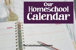Our Homeschool Calendar