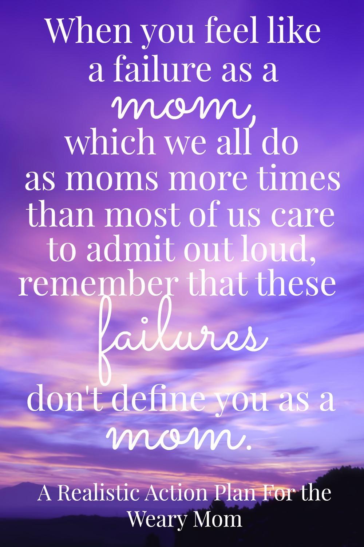 failure as a mom