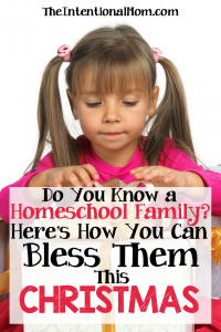 Do You Know a Homeschooling Family? Here Are Some Inexpensive Ways to Bless Them This Christmas