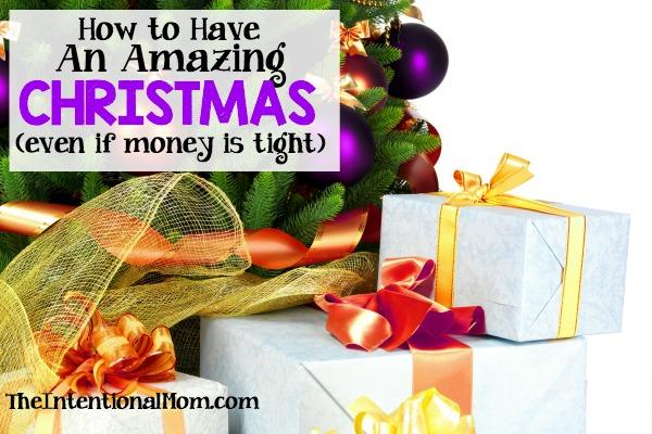 Christmas tight budget