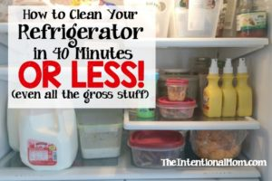 How to Clean Your Refrigerator in 40 Minutes or Less (even the gross stuff)