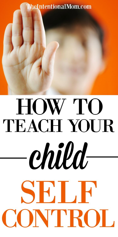 teach child self control