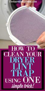 clean dryer lint trap