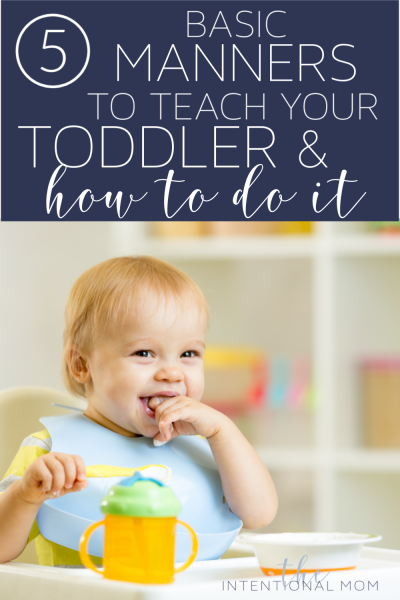 teach toddler manners