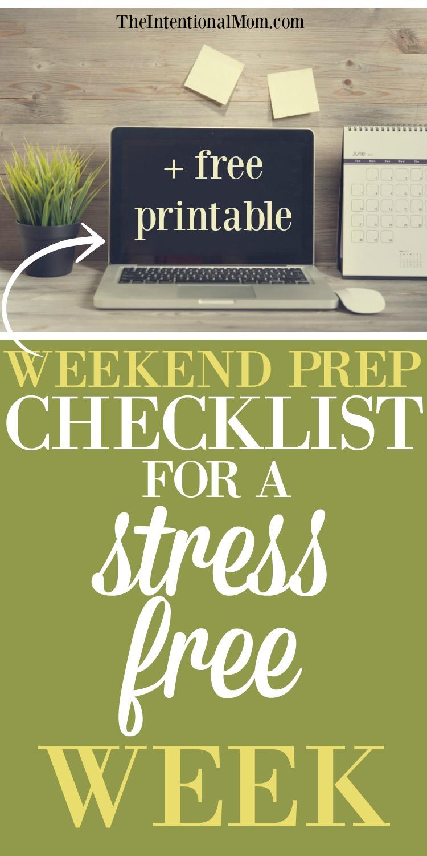weekend prep checklist