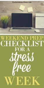 Weekend Checklist For a Stress Free Week – FREE Printable!