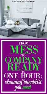 From Mess to Company Ready in 1 Hour: The Cleaning Checklist You Need