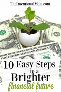 10 Easy Steps to a Brighter Financial Future, Starting Today! FREE Printable!