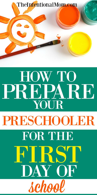 preschooler first day of school