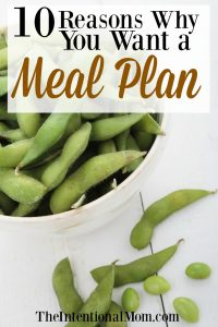 10 Reasons Why You Want a Meal Plan