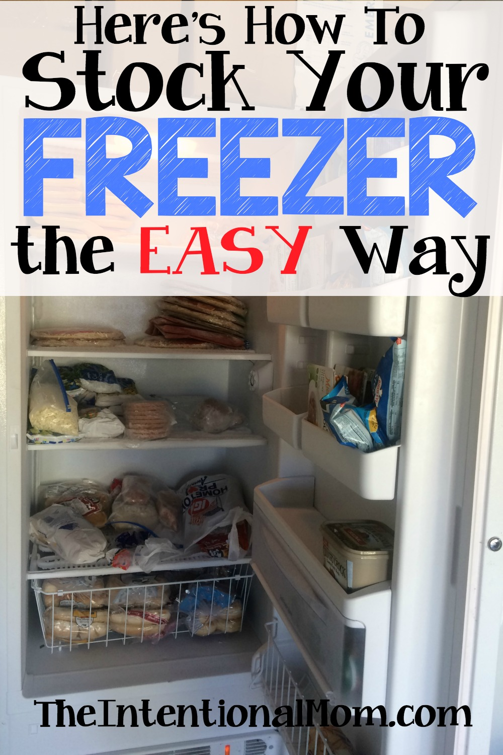 here's how to stock your freezer