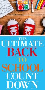 The Ultimate Back to School Countdown