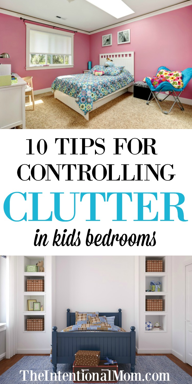 10 Tips For Controlling Clutter In Kids Bedrooms