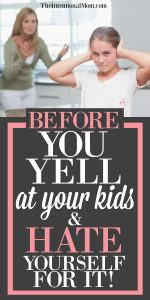 yell at your kids