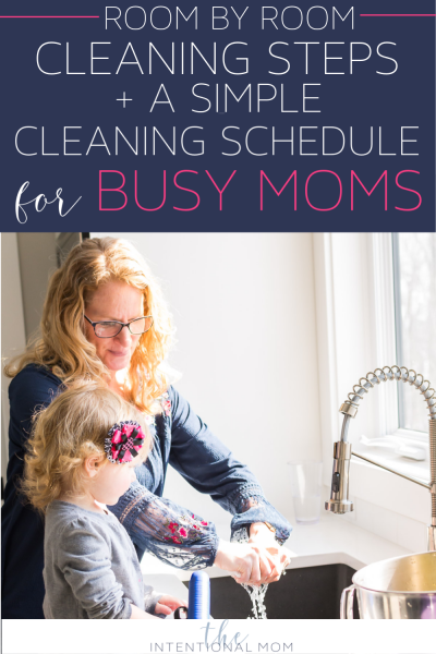 cleaning schedule busy moms