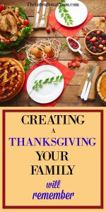 Creating a Thanksgiving to Remember