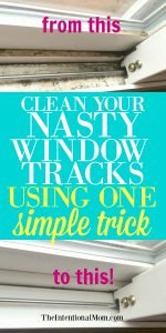 Clean Your Nasty Window Tracks Using One Simple Trick