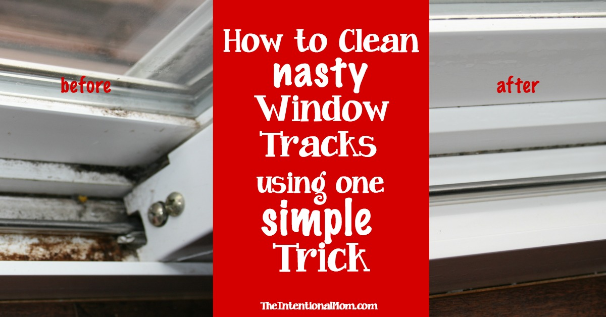 Clean your nasty window tracks using one simple trick for How to clean windows