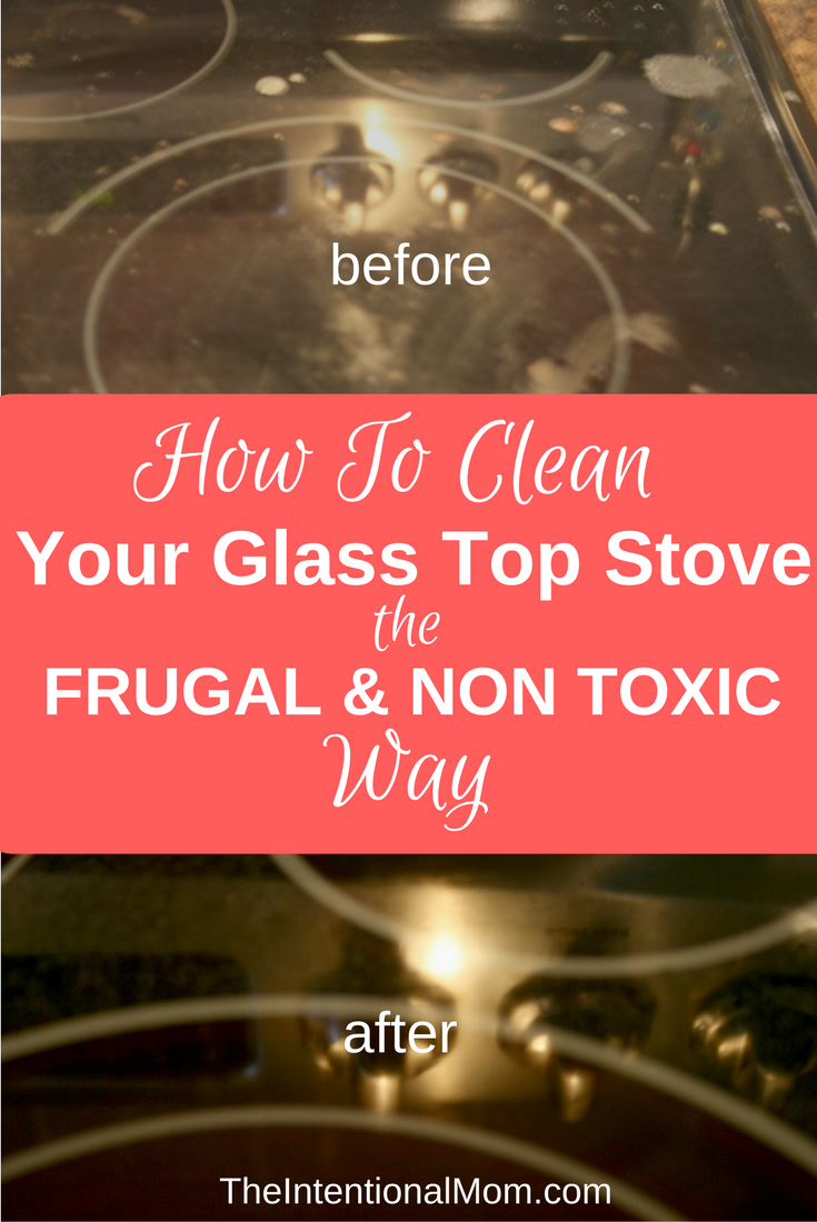 clean glass stove top frugally non toxic