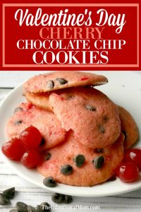 Cherry Chocolate Chip Valentine's Day Cookies