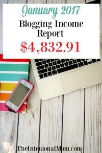 January 2017 Blogging Income Report $4,832.91