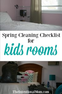 Spring Cleaning Checklist For Kids Rooms