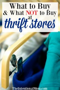 What to Buy & What Not to Buy at Thrift Stores