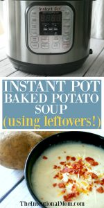 Creamy Instant Pot Baked Potato Soup Using Leftover Potatoes!